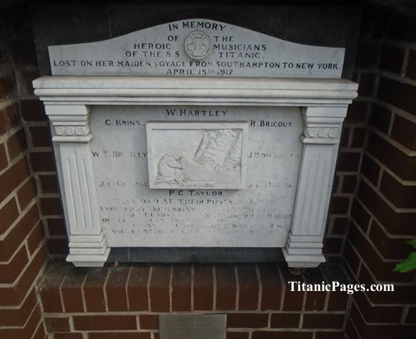 Titanic Musicians Memorial, Southampton