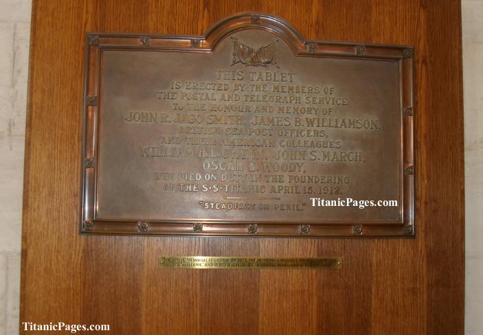 Titanic Postal Workers Memorial, Southampton
